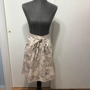 Ann Taylor floral a line skirt